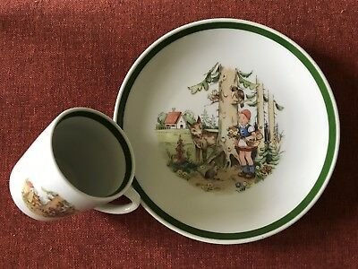 Little Red Riding Hood ~ Cup and Plate Set ~ Made In Germany (GDR) ~ Mint Cond.