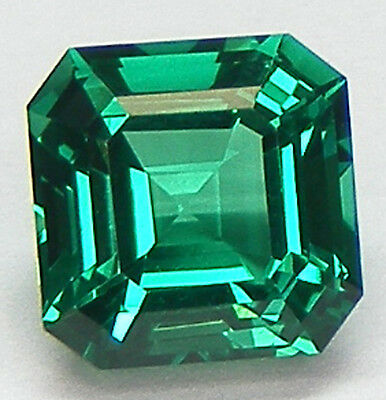 EXCELLENTE QUALITE T. ASSCHER 7x7 MM. EMERAUDE NANOCRISTAL LABORATOIRE