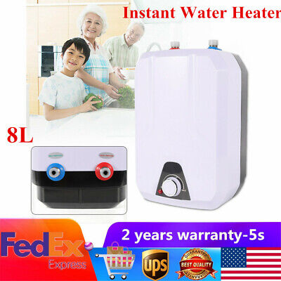 1500W 110V Instant Electric Tankless Hot Water Heater Shower Kitchen Bathroom