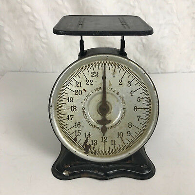 Antique vintage 1906 Perfection Original Slanting Dial Scale rare vtg black meta