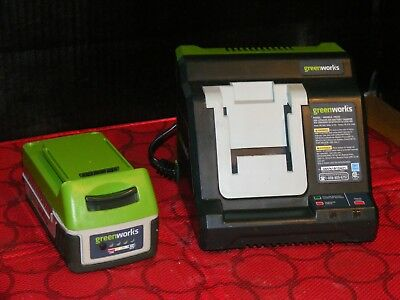 Green Works 20V Lithium Battery Charger 29222 W/20V Lithium Battery 29612*tested