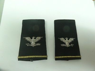 Military Patch Us Army Shoulder Boards Rank Set Of 2 Full Colonel Short Female