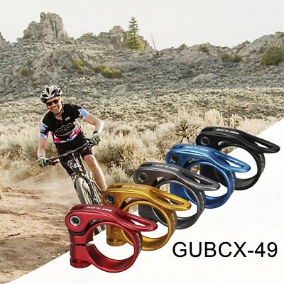 34.9MM Simple Install Aluminum Alloy MTB Bike Bicycle Seat Post Clamp EC
