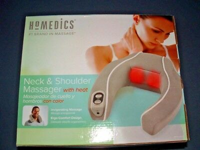Homedics Neck And Shoulder 2 Speed Massager W/ Heat Nib Ac Adapter Or 4 Aa Batt