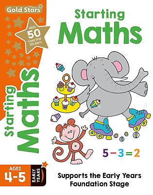 Maths Age 4-5 Early Years Reception - Educational Activity Book By Gold Stars Pb