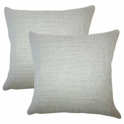 Gracie Oaks Glade Solid Throw Pillow Set of 2