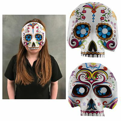 Day Of The Dead Half Face Mask Sugar Skull Halloween Costume Accessory Skeleton