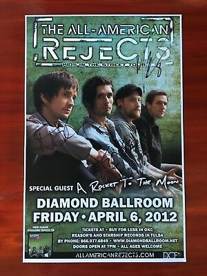 All American Rejects ** SIGNED ** Band Concert Poster