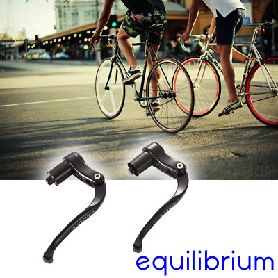 HANDLE BAR END FIXIE BRAKE LEVER PAIR TIME TRIAL FIXIE & ROAD BIKE BLACK 172g!!