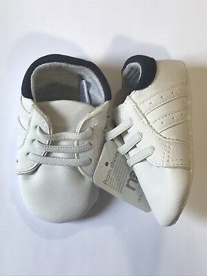 Baby Boys Pram Shoes | Mothercare | White Slip On Pumps | Various Sizes