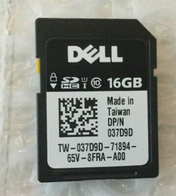 NEW Dell 16GB iDRAC vFlash SDHC Class 10 Card Module 37D9D