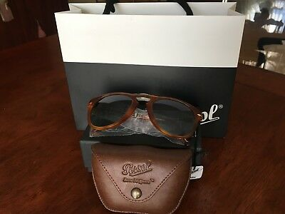 50e11b653e9df7 PERSOL 714 STEVE McQueen Sunglasses 714SM Light Havana Blue 96 S3 ...