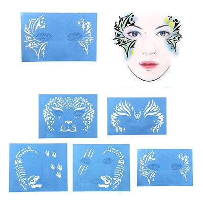 face paint stencils 100 pieces thick soft pliable and easy to