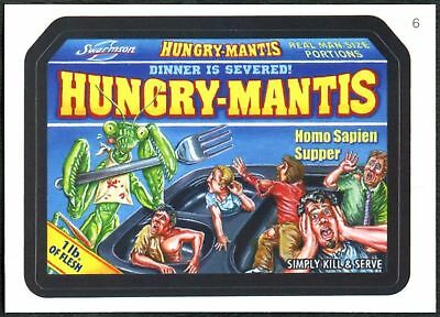 Hungry-Mantis #6 Wacky Packages Series 7 Topps 2010 Sticker Trade Card (C1770)