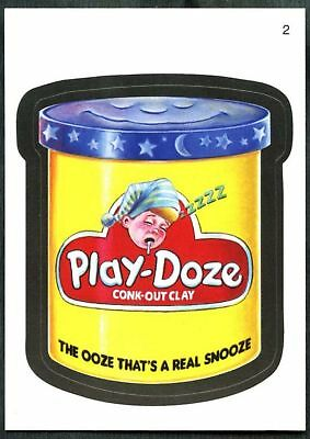 Play-Doze #2 Wacky Packages Series 7 Topps 2010 Sticker Trade Card (C1770)