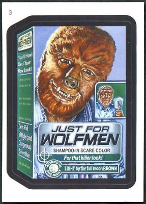 Just For Wolfmen#3 Wacky Packages Series 7 Topps 2010 Sticker Trade Card (C1770)