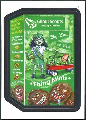 Ghoul Scouts #1 Wacky Packages Series 7 Topps 2010 Sticker Trade Card (C1770)