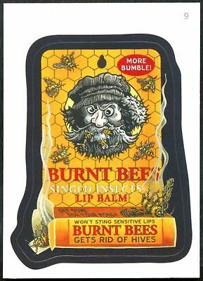 Burnt Bees #9 Wacky Packages Series 7 Topps 2010 Sticker Trade Card (C1770)