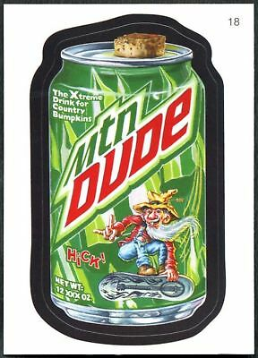 Mtn Dude #18 Wacky Packages Series 7 Topps 2010 Sticker Trade Card (C1770)