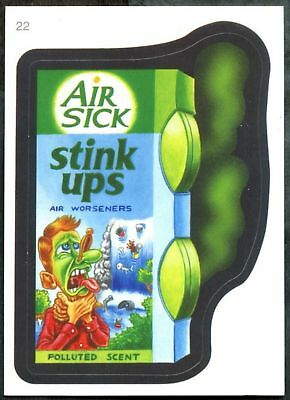 Air Sick #22 Wacky Packages Series 7 Topps 2010 Sticker Trade Card (C1770)