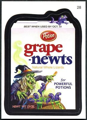 Grape-Newts #28 Wacky Packages Series 7 Topps 2010 Sticker Trade Card (C1770)