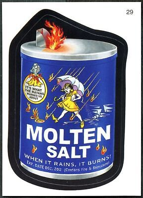 Molten Salt #29 Wacky Packages Series 7 Topps 2010 Sticker Trade Card (C1770)