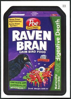 Raven Bran #33 Wacky Packages Series 7 Topps 2010 Sticker Trade Card (C1770)