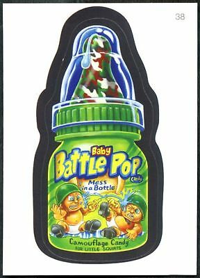 Baby Battle Pop#38 Wacky Packages Series 7 Topps 2010 Sticker Trade Card (C1770)