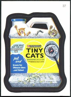 Tiny Cats #37 Wacky Packages Series 7 Topps 2010 Sticker Trade Card (C1770)