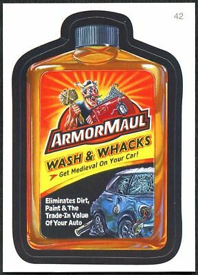 Armor Maul #42 Wacky Packages Series 7 Topps 2010 Sticker Trade Card (C1770)