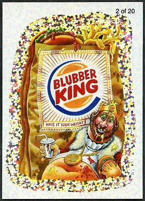 Blubber King #2 Wacky Packages S7 Wack-O-Mercials Flash Foil Sticker Card C1772