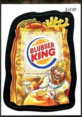 Blubber King#2 Wacky Packages Series 7 Wack-O-Mercials Sticker ChaseCard (C1775)