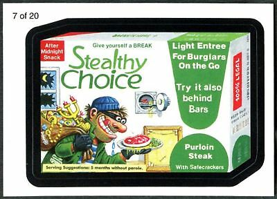Stealthy Choice #7 Wacky Packages S7 Wack-O-Mercials Sticker Chase Card (C1775)