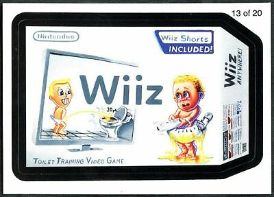 Wiiz #13 Wacky Packages Series 7 Wack-O-Mercials 2010 Sticker Chase Card (C1775)