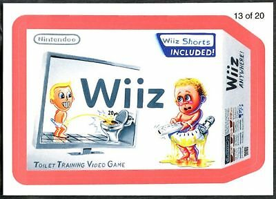 Wiiz #13 Wacky Packages S7 Red Wack-O-Mercials 2010 Sticker Chase Card (C1776)