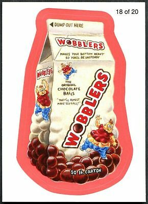 Wobblers #18 Wacky Packages S7 Red Wack-O-Mercials Sticker Chase Card (C1776)