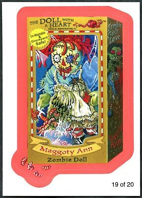 Maggoty Ann #19 Wacky Packages S7 Red Wack-O-Mercials Sticker Chase Card (C1776)