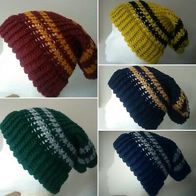 Harry Potter Inspired Beanie Hat - Gryffindor Hufflepuff Ravenclaw Slytherin NEW