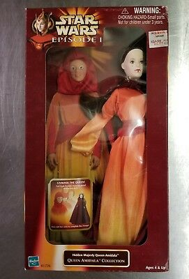 "Star Wars Episode 1 Hidden Majesty Queen Amidala Action Figure 12"" Doll Hasbro"