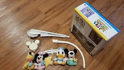 Vintage Dolly Disney Babies Musical Mobile Mickey Minnie Donald Pluto FREE SHIP