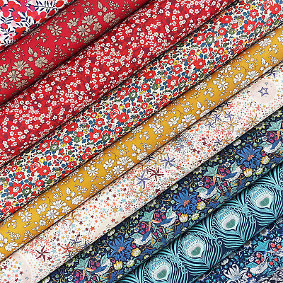 Liberty Strawberry Thief Tana Lawn Fabric Pack / quilting floral christmas betsy