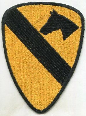 Vietnam Era US Army 1st Cavalry COLOR Patch CUT EDGE