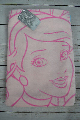 NWT Disney Princesses Cinderella Mulan Sleeping Beauty Pink Beach Towel