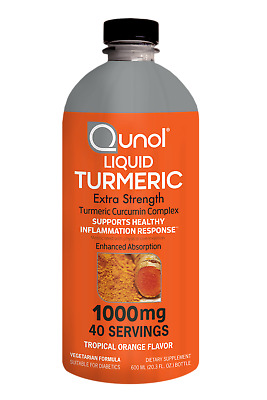 Liquid Turmeric Curcumin 1000 mg Qunol Enhanced Absorption Formula 20oz (600ml)