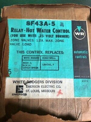 Relay Hot Water Control 8F43A-5