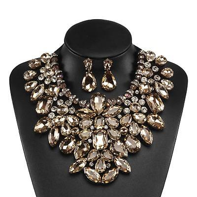 Holylove 5 Colors Costume Statement Necklace for Women Jewelry Fashion Necklace