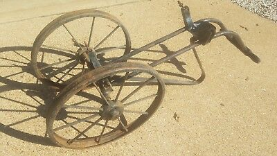 Antique Fire Extinguisher Wheeled Cart