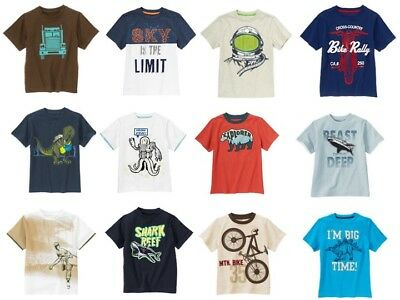 Gymboree Boys 10 Summer Tee Shirt Top Variety Space Dino Shark Baseball NEW NWT