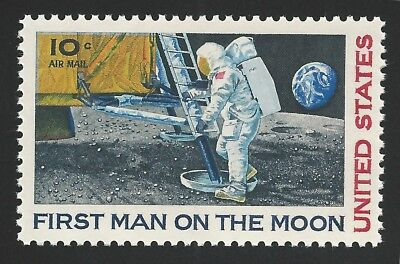 1969 APOLLO 11 FIRST MAN ON THE MOON Landing Neil Armstrong Stamp MINT CONDITION