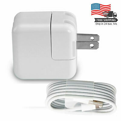 NEW 12W USB Wall Charger & 8 Pin Cable for Apple iPad Mini Air iPhone X 5 6 7s 8